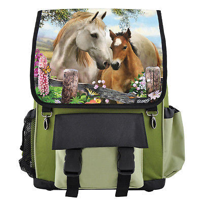Summer Meadow Horses School Backpack for Girls & Boys