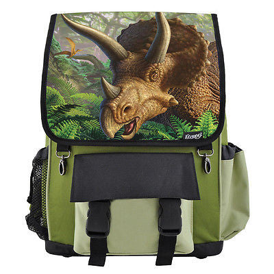 Triceratops Dinosaur School Backpack, Book Bag for Boys, Girls, Kids