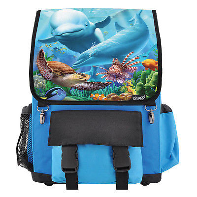 Sea Village School Backpack, Book Bag for Boys, Girls, Kids