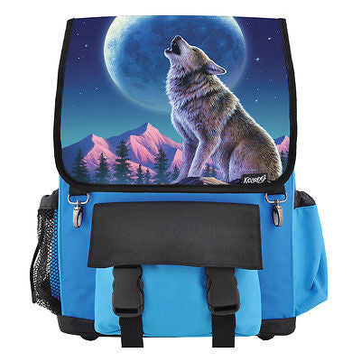 Wolf Moon Howl School Backpack, Book Bag for Boys, Girls, Kids
