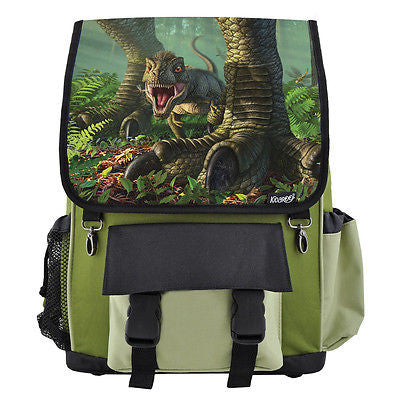 Baby Wee Rex Dinosaur School Backpack, Book Bag for Boys, Girls, Kids