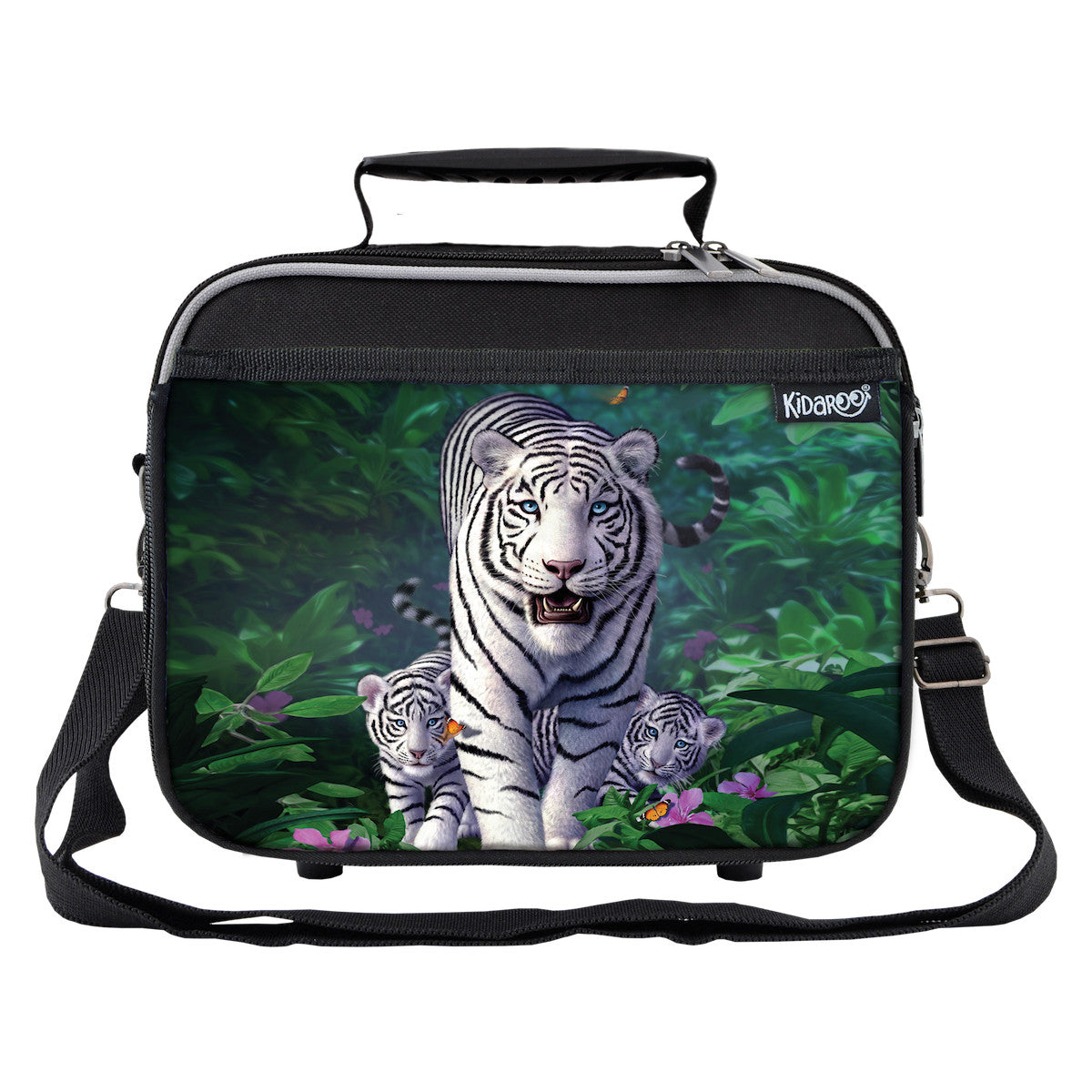 White Tiger & Cubs School Lunchbox, Tote Bag for Boys, Girls, Kids