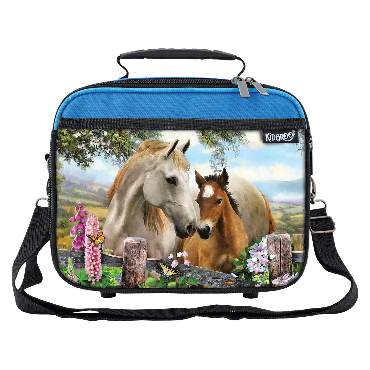 Summer Meadow Horses Lunchbox Tote for Boys, Girls, Kids