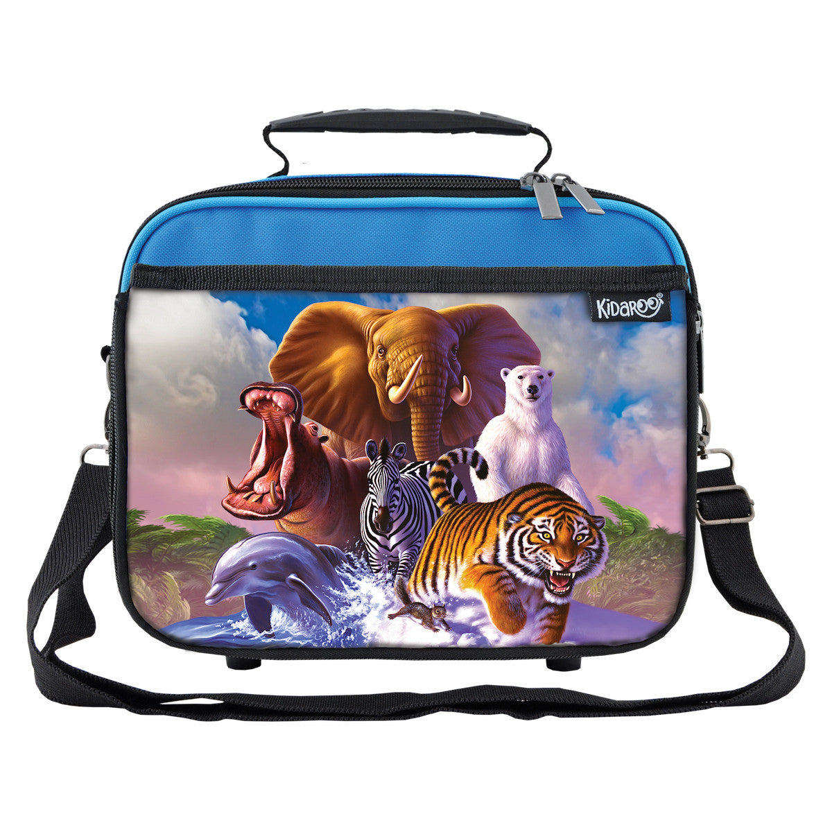 Wildlife Planet School Lunchbox, Tote Bag for Boys, Girls, Kids