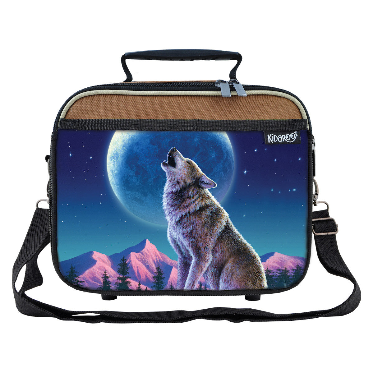Wolf Moon Howl School Lunchbox, Tote Bag for Boys, Girls, Kids