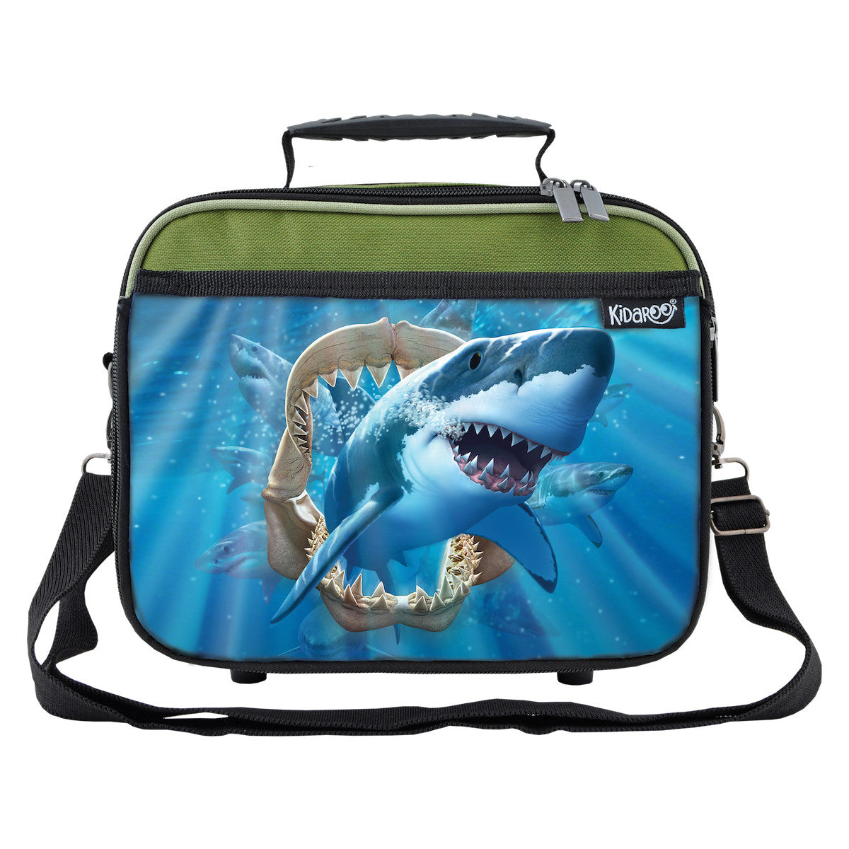Great White Shark Jaws School Lunchbox, Tote Bag for Boys, Girls, Kids