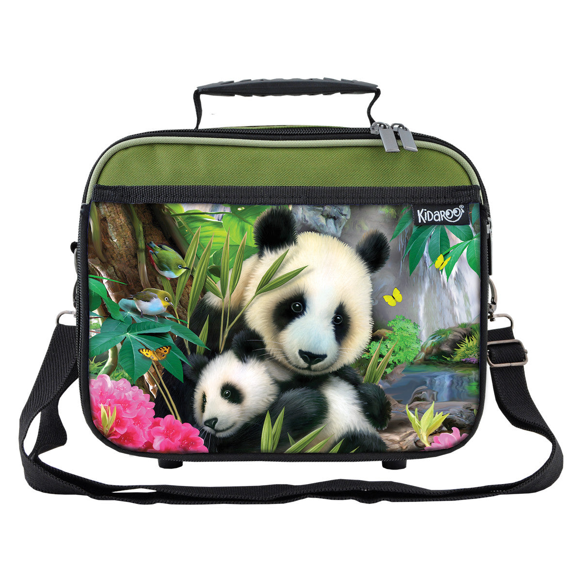 Precious Pandas School Lunchbox, Tote Bag for Boys, Girls, Kids