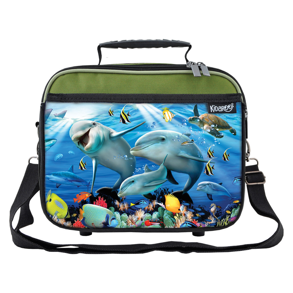 Dolphin Sunshine on the Reef School Lunchbox, Tote Bag for Boys, Girls, Kids