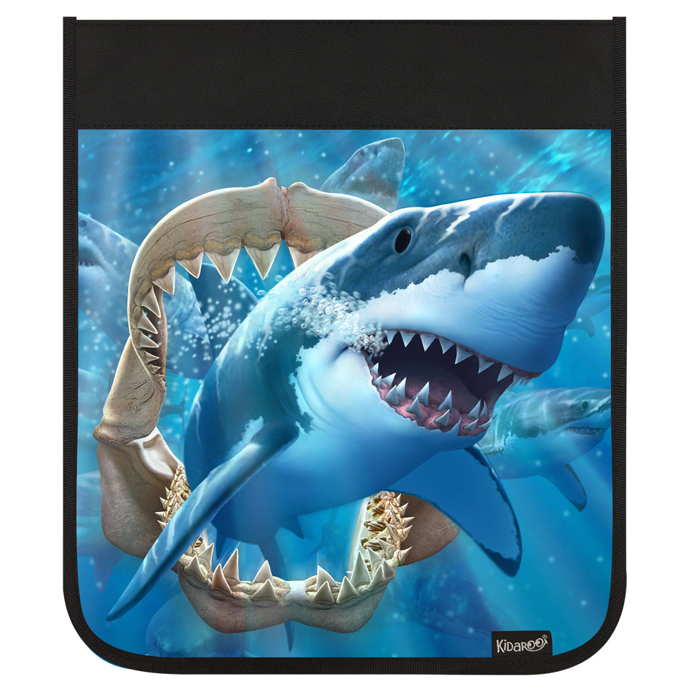 Kidaroo Great White Shark & Jaws Backpack Flap
