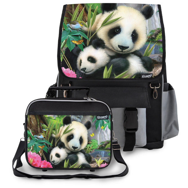 Precious Pandas School Backpack & Lunchbox Set for Boys, Girls, Kids