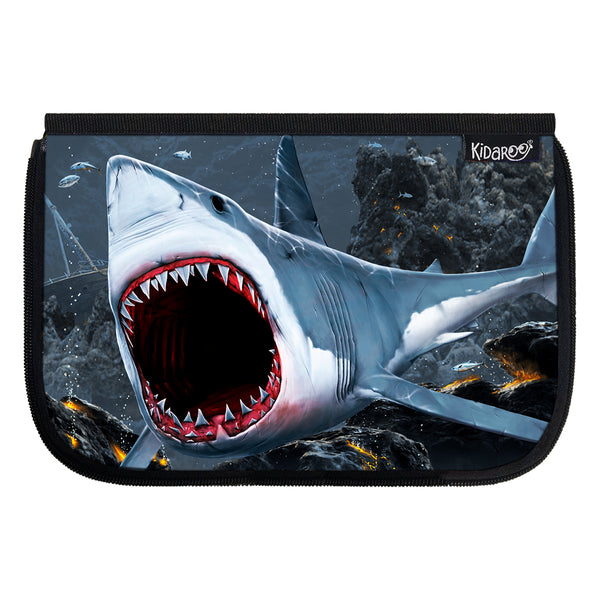 Kidaroo Great White Shark Bite School Lunch Box Flap