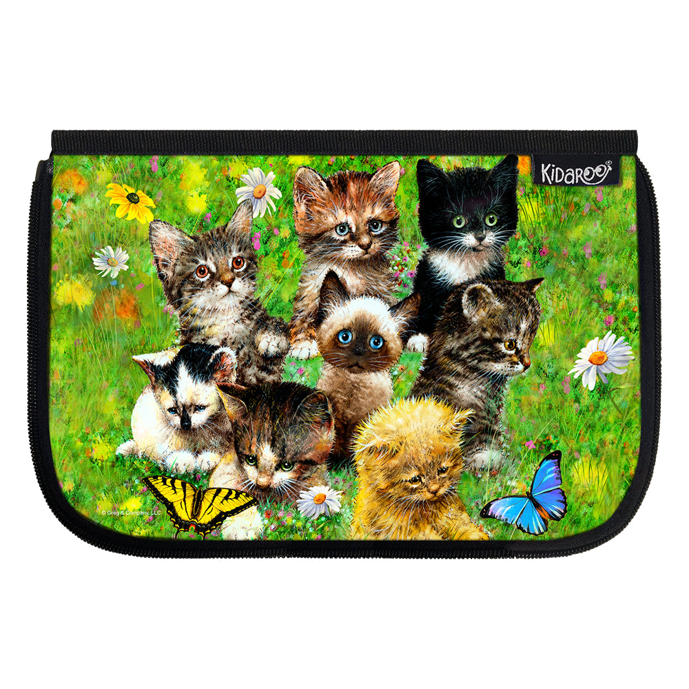 Kidaroo Cute Little Kittens School Lunch Box Flap