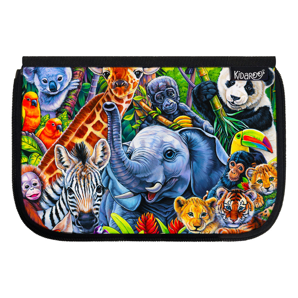 Kidaroo Jungle Babies School Lunch Box Flap