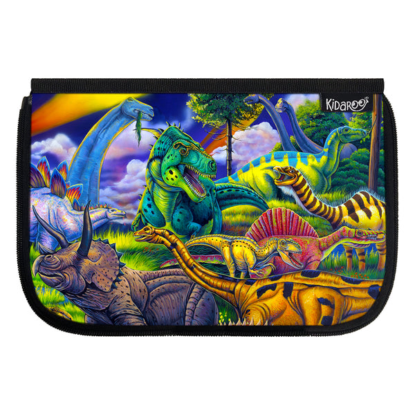 Kidaroo Dinosaur Jungle School Lunch Box Flap