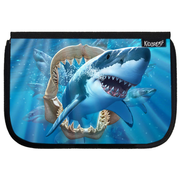 Kidaroo Great White Shark & Jaws School Lunch Box Flap