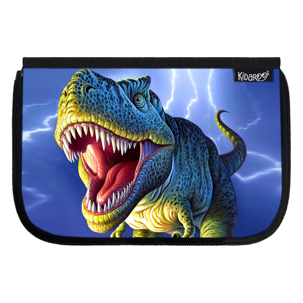 Kidaroo Lightning T-Rex Dinosaur School Lunch Box Flap