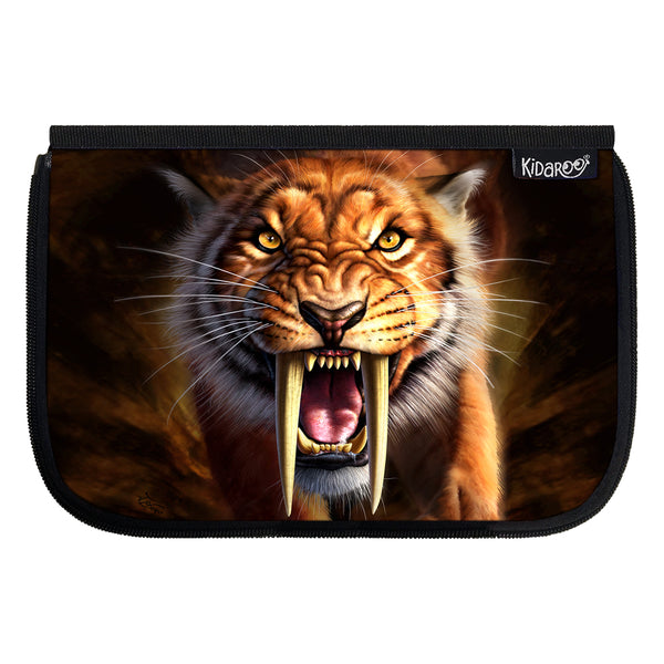 Kidaroo Saber Tooth Tiger School Lunch Box Flap