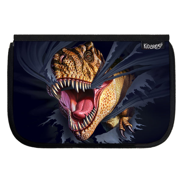 Kidaroo Tearing T-Rex Dinosaur School Lunch Box Flap