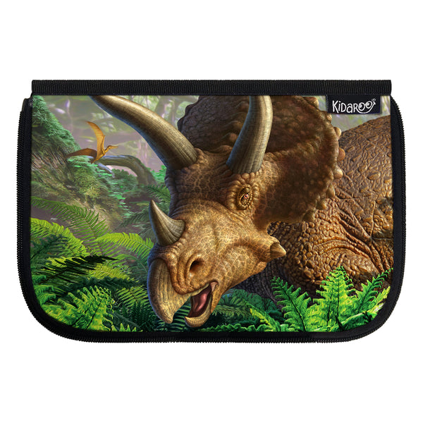 Kidaroo Triceratops Jungle Dinosaur School Lunch Box Flap