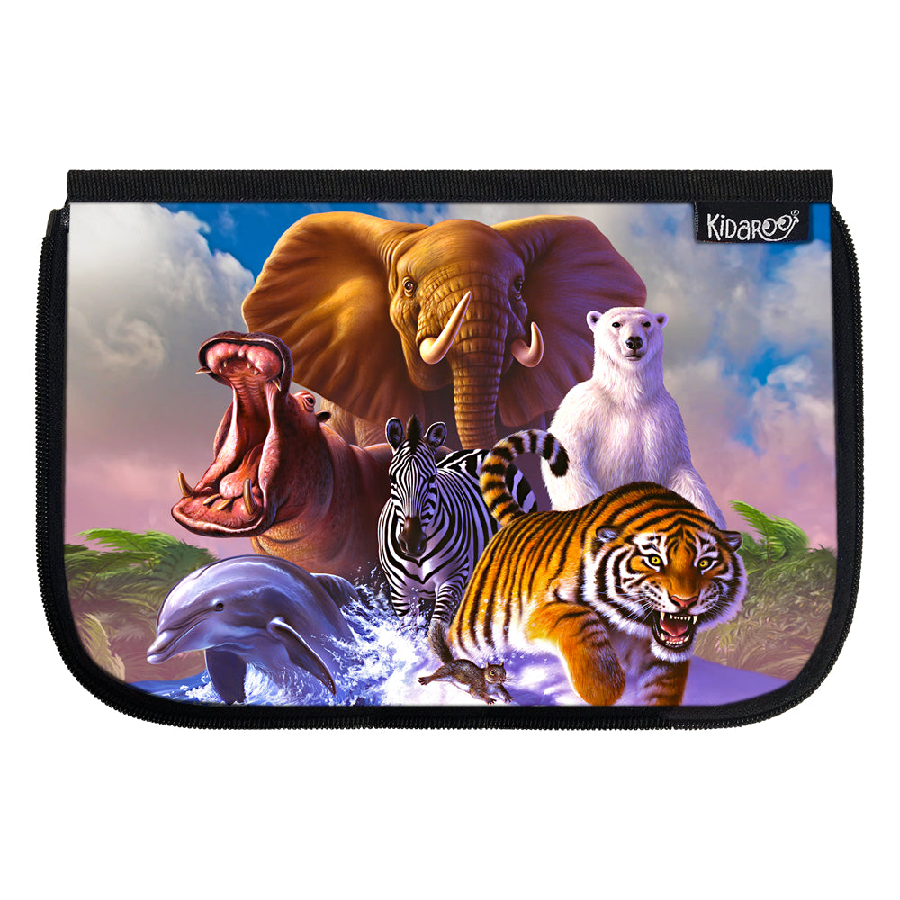 Kidaroo Wildlife Planet School Lunch Box Flap