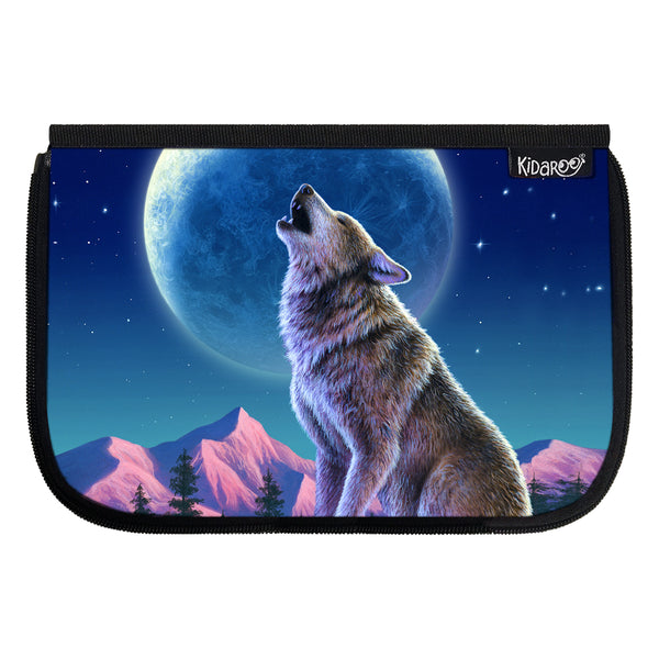 Kidaroo Wolf Moon Howl School Lunch Box Flap
