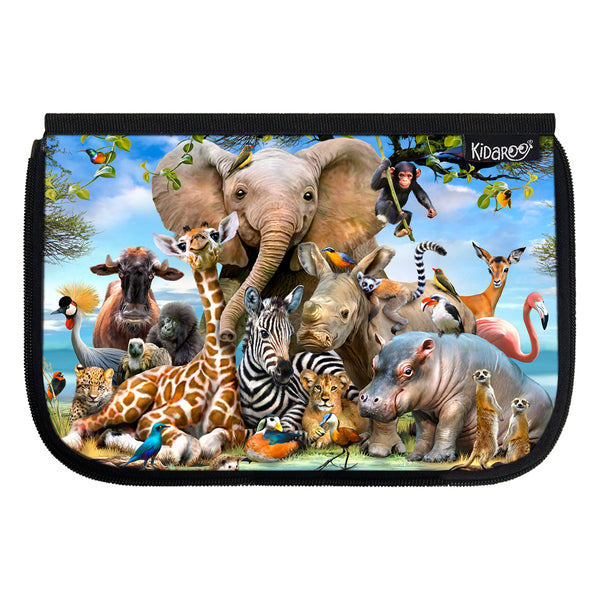 Kidaroo Safari Smile School Lunch Box Flap