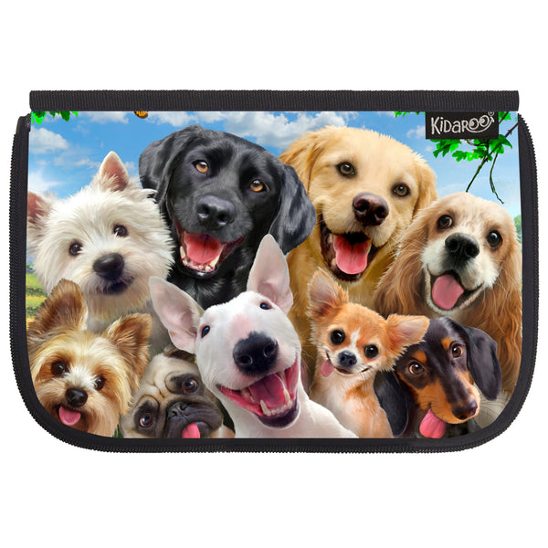 Kidaroo Dog Selfies School Lunch Box Flap