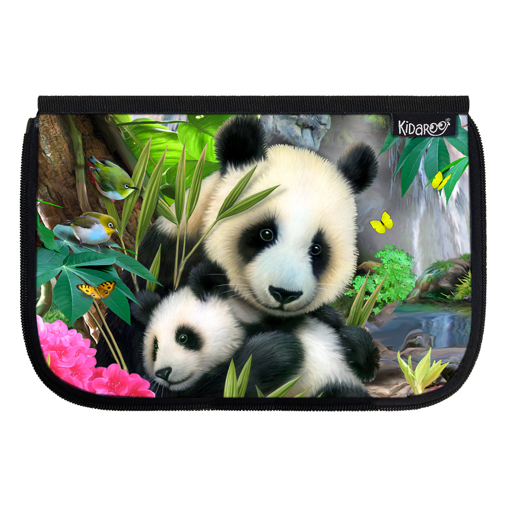 Kidaroo Precious Pandas School Lunch Box Flap