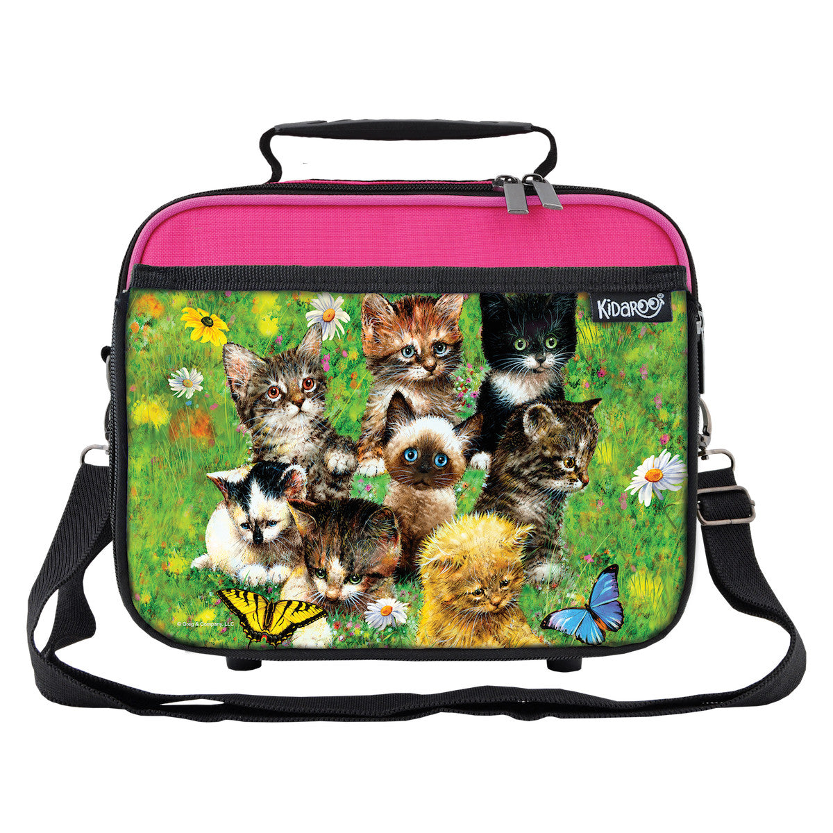 Cute Little Kittens School Lunchbox, Tote Bag for Boys, Girls, Kids