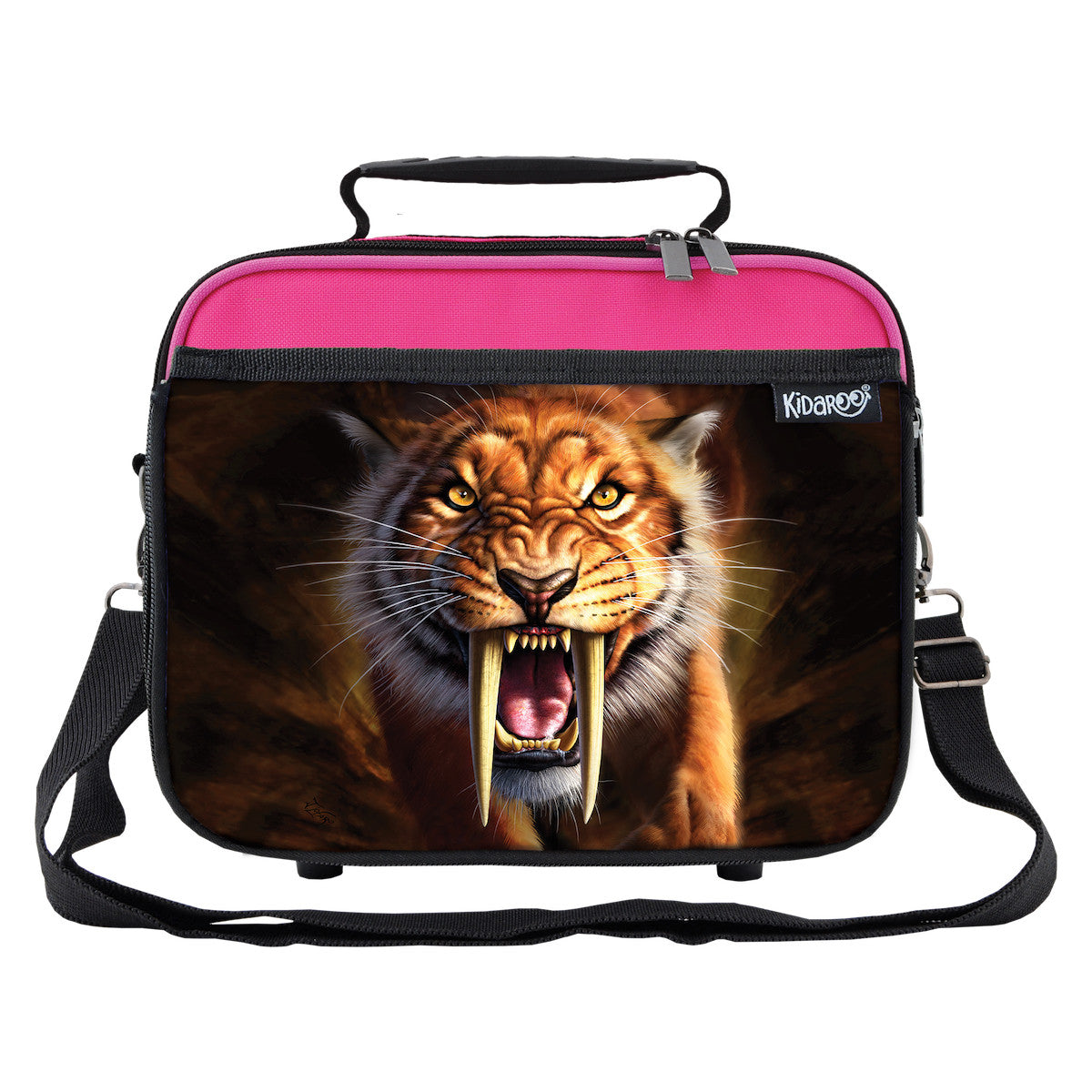 SaberTooth Tiger School Lunchbox, Tote Bag for Boys, Girls, Kids