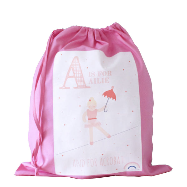 Personalised Drawstring Bag - Pink