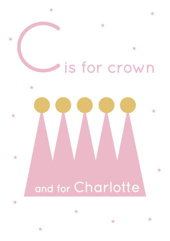 Crown Personalised Print
