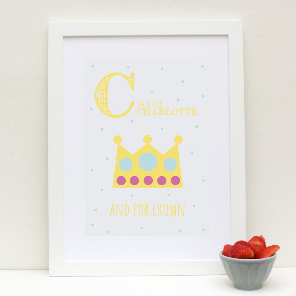 Crown Personalised Alphabet Name Print