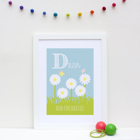 Daisy Personalised Alphabet Name Print