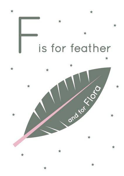 Feather Personalised Print