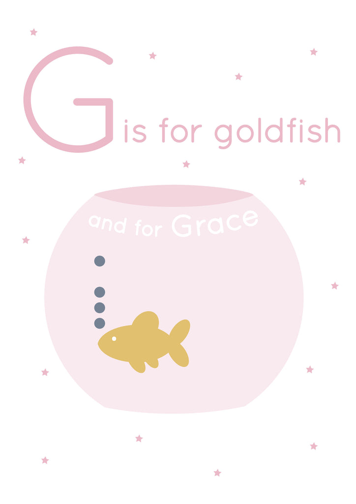 Goldfish Personalised Print