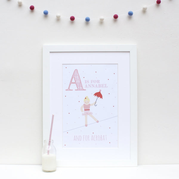 Acrobat Personalised Alphabet Name Print