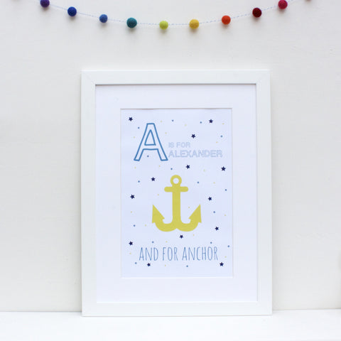 Anchor Personalised Alphabet Name Print