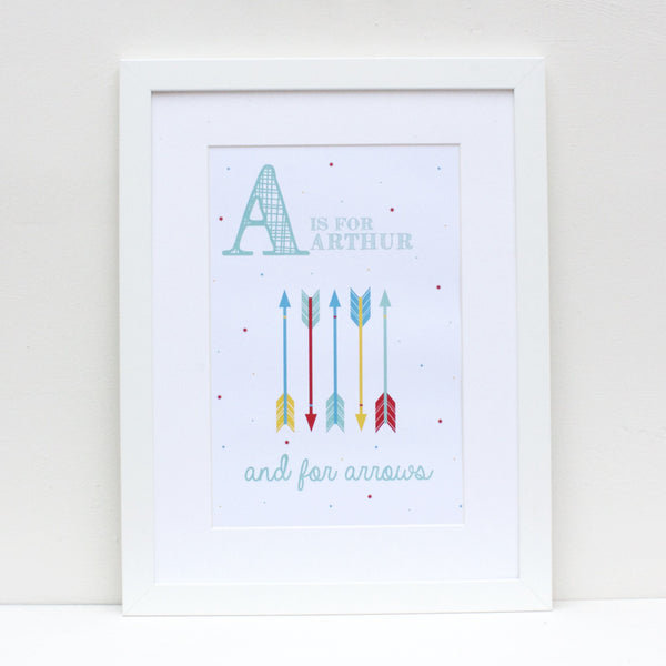 Arrows Personalised Alphabet Name Print
