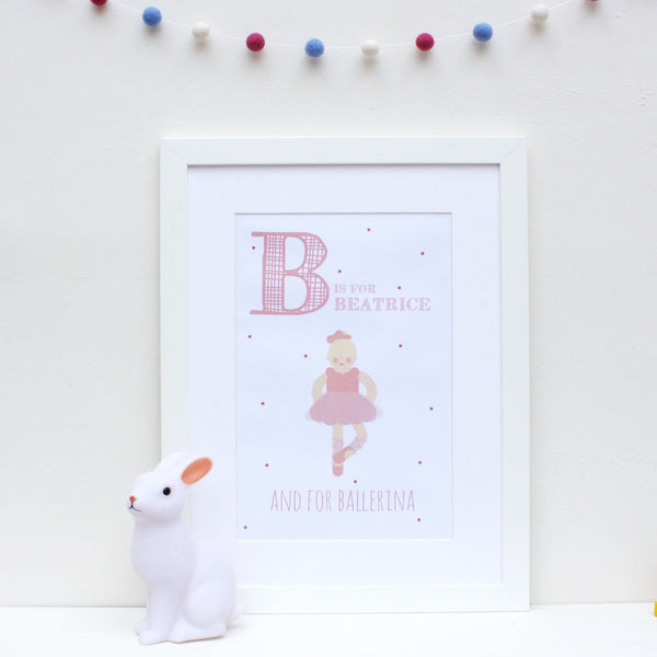 Ballerina Personalised Alphabet Name Print
