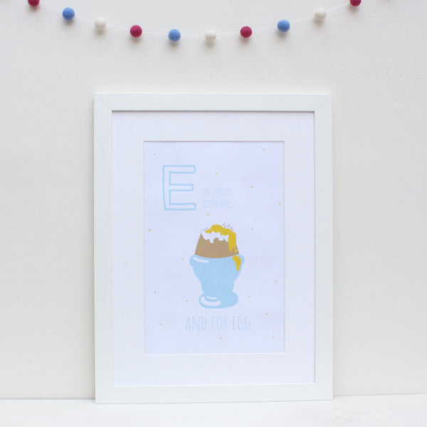 Egg Personalised Alphabet Name Print