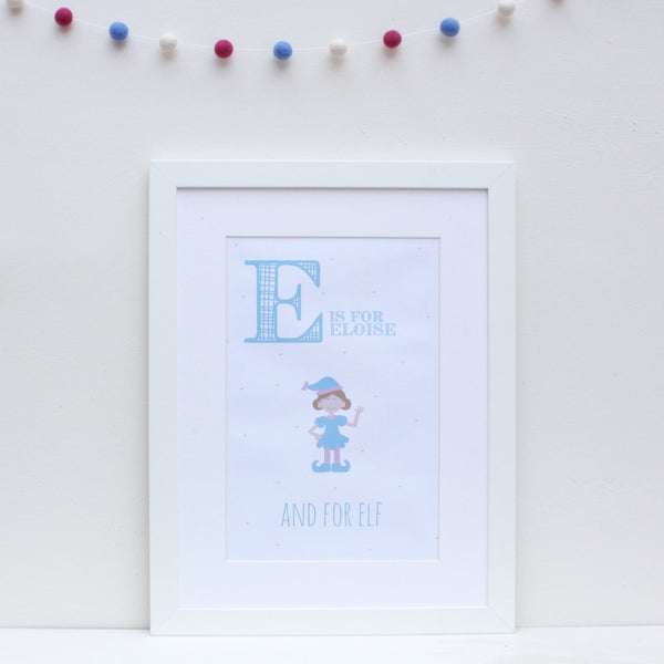 Elf Personalised Alphabet Name Print