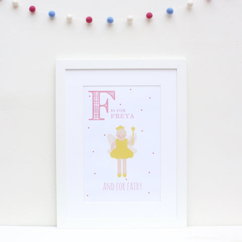 Fairy Personalised Alphabet Name Print