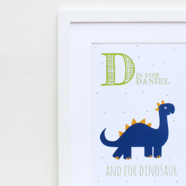 Dinosaur Personalised Alphabet Name Print