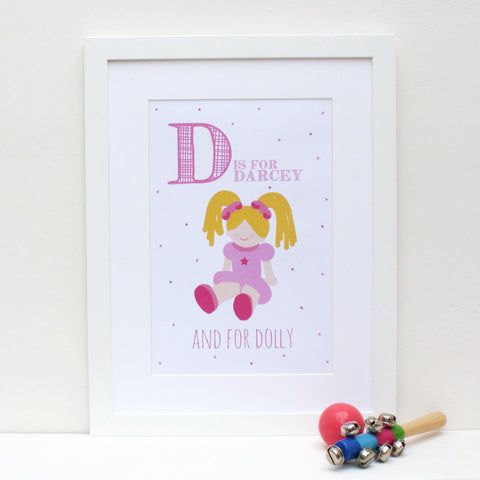 Dolly Personalised Alphabet Name Print