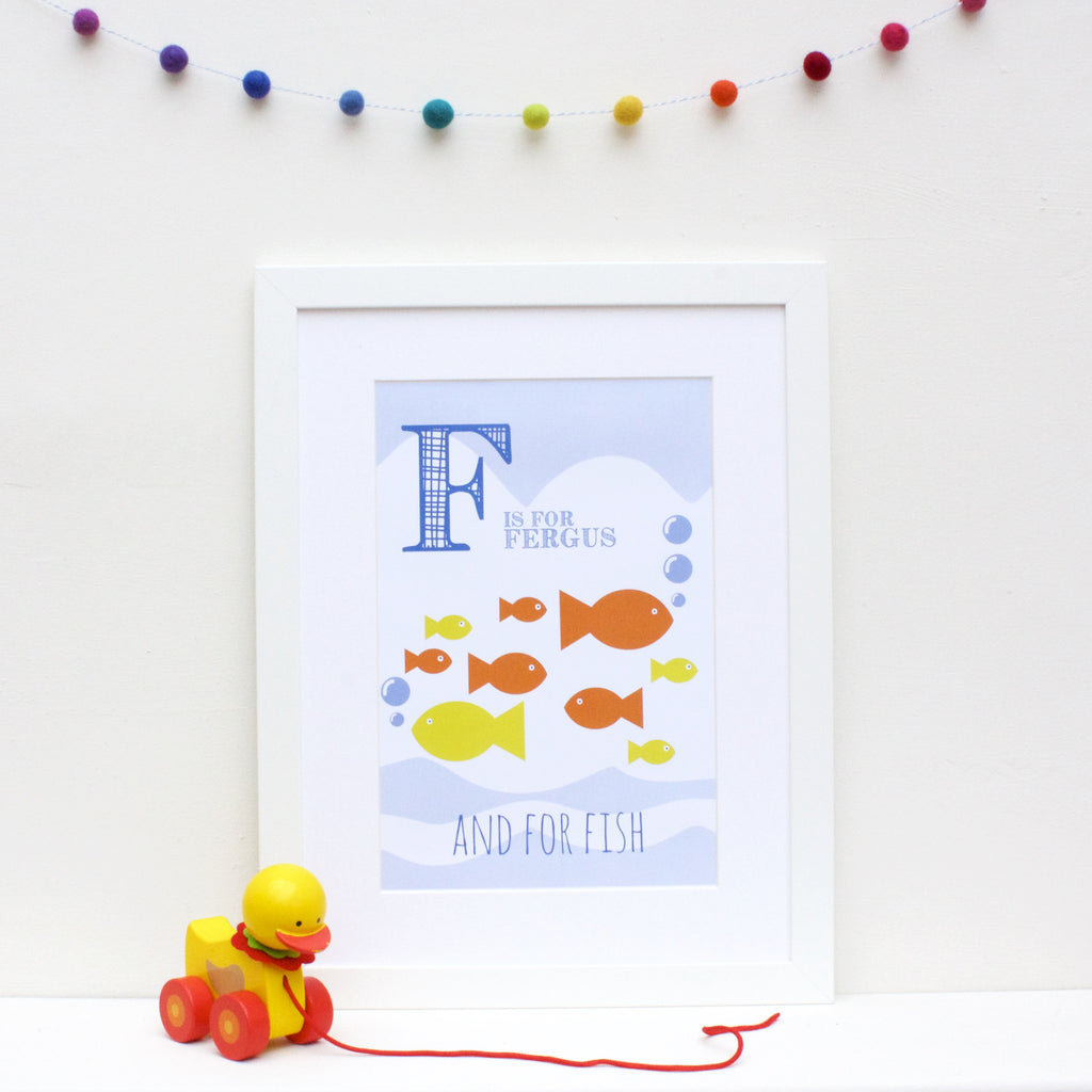 Fish Personalised Alphabet Name Print