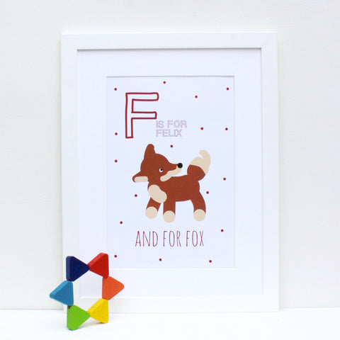 Fox Personalised Alphabet Name Print