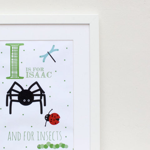 Insects Personalised Alphabet Name Print