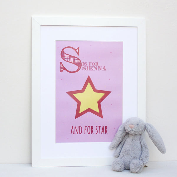 Star Personalised Alphabet Name Print