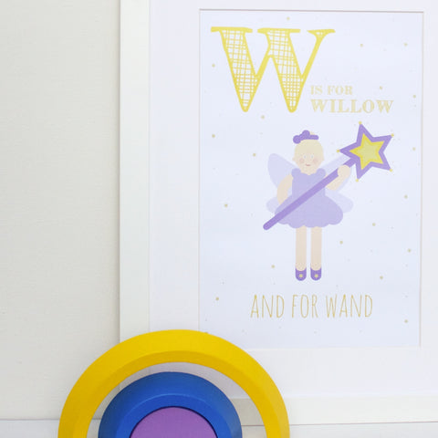 Wand Personalised Alphabet Name Print